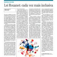 Melhorias na Lei Rouanet é abordado em Jornal de Campinas